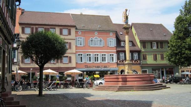 Historischer Marktplatz der Stadt Ladenburg